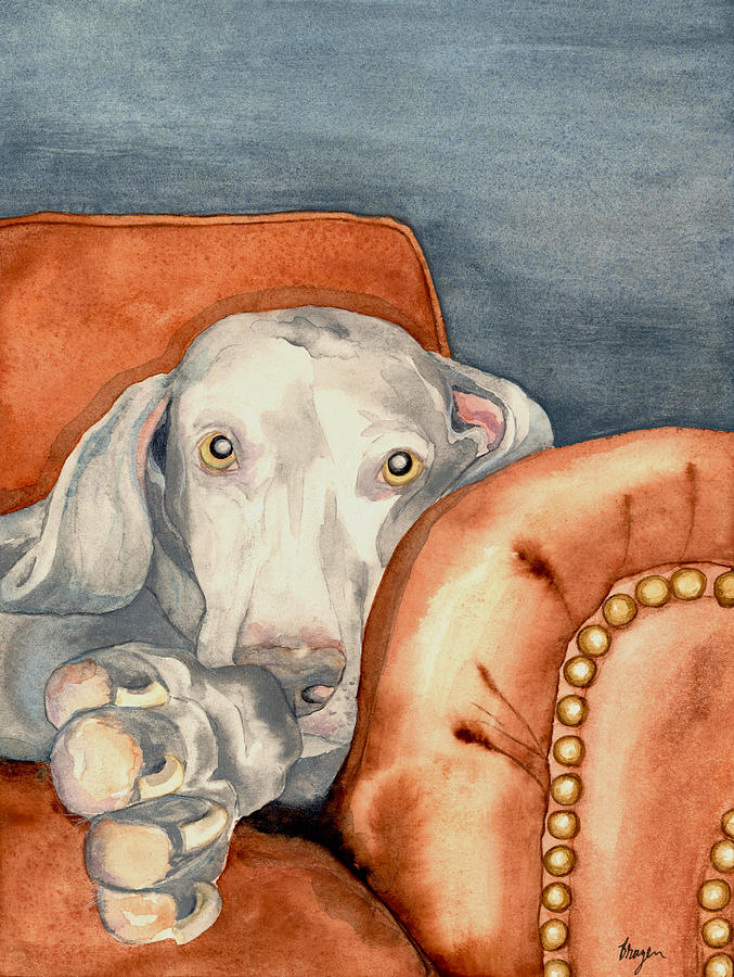 Weimaraner Painting - Jade by Brazen Design Studio
