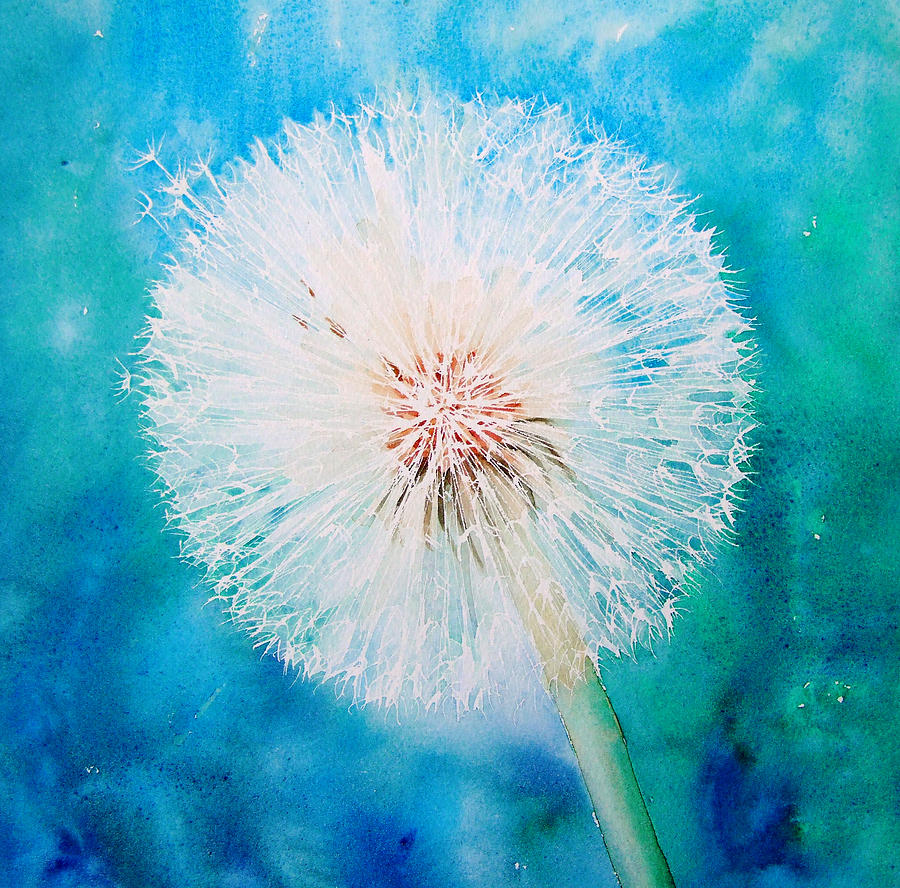 Jade Dandelion Painting By Ruth Harris