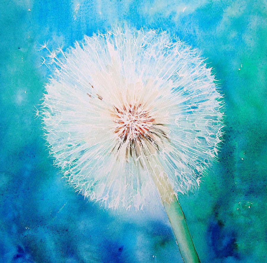 Acrylic Painting Dandelion Easy