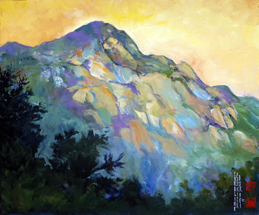 China Painting - Jade Mountain by Caroline Patrick