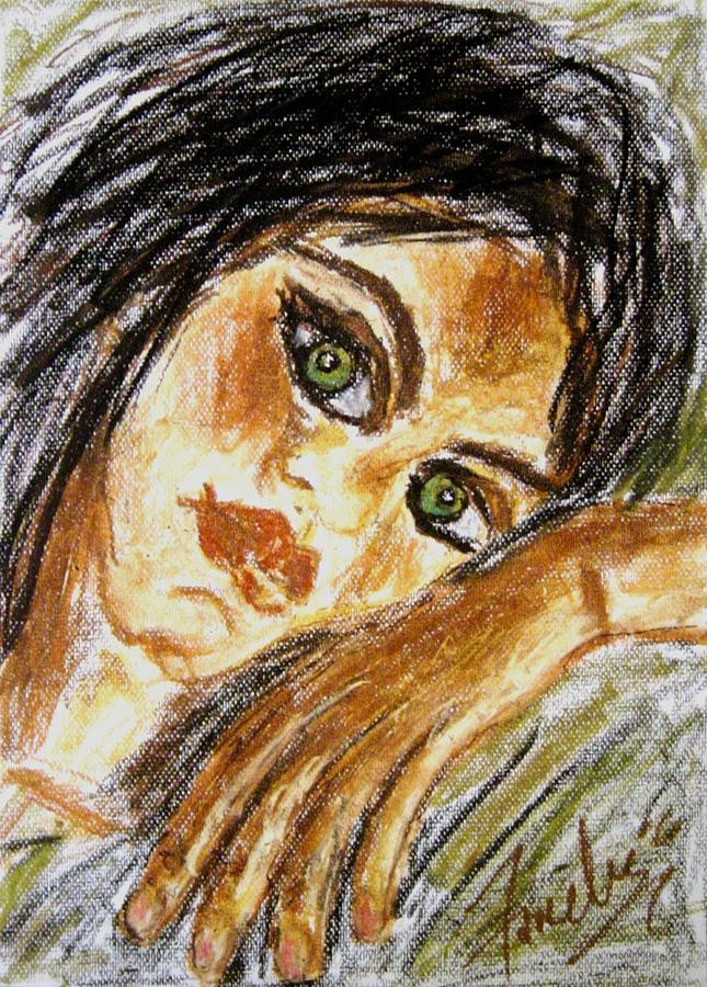 Women Pastel - Jaded by Fareeha Khawaja