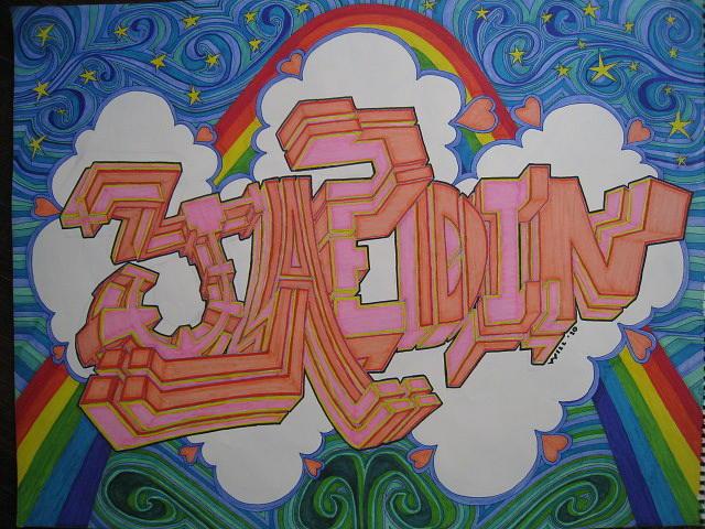 Rainbow Drawing - Jaedin by Will Stevenson