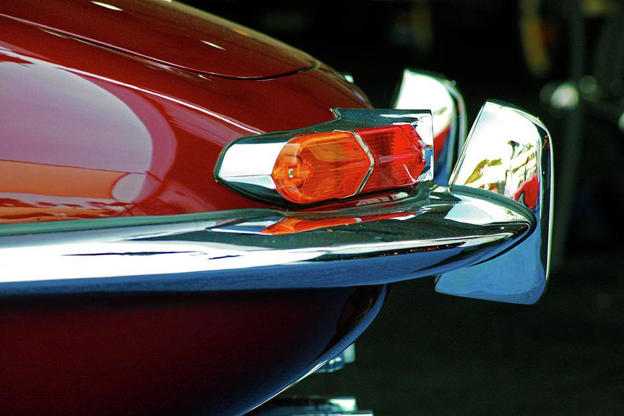 Jaguar Xke Photograph - Jag Xke Tail Profile by Ave Guevara