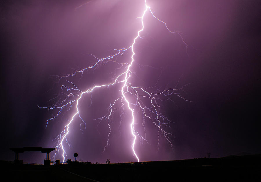 Lightning Photograph - Jagged by Jess Berry