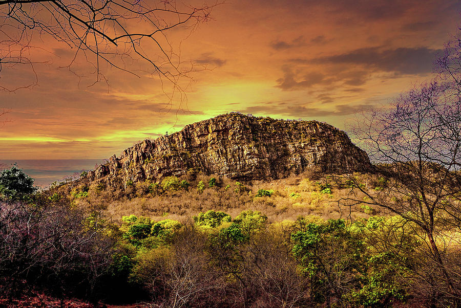 Landscape Photograph - Jagged Landscape by Manjot Singh Sachdeva