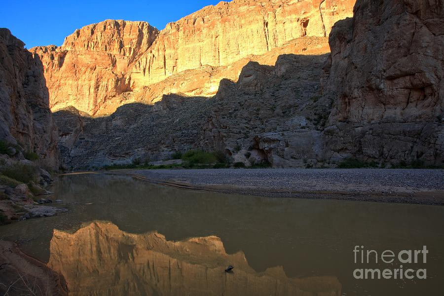 Boquillas Canyon Photograph - Jagged Reflections At Boquillas Canyon by Adam Jewell