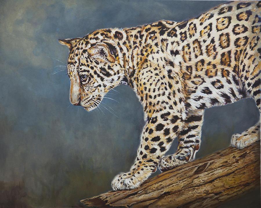 Wildlife Painting - Jaguar Cub by Portraits By NC