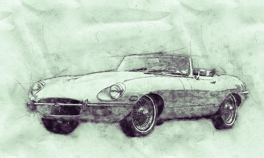 Jaguar E-type 3 - Jaguar Xk-e - Sports Car - Automotive Art - Car Posters Mixed Media