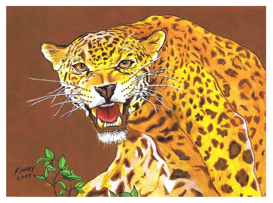 Big Cats Painting - Jaguar by Jay Kinney