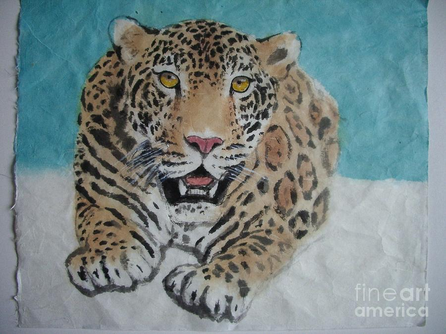 Jaguar Painting - Jaguar1 by Jian Hua Li