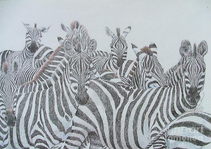 Horses Drawing - Jail Break by Dan Hausel