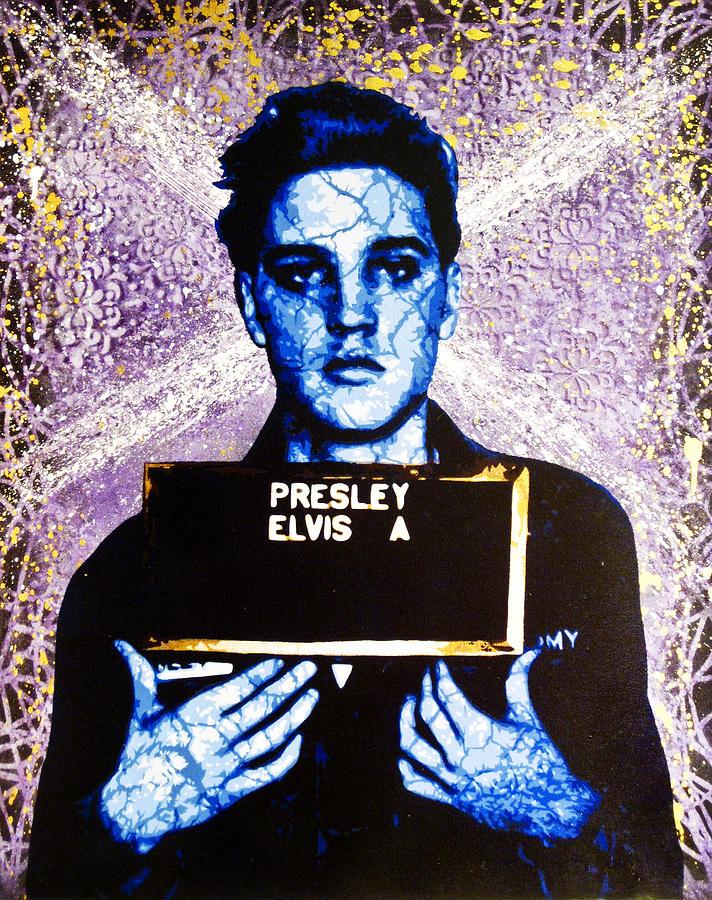 Elvis Painting - Jailhouse Rock Alternate by Bobby Zeik