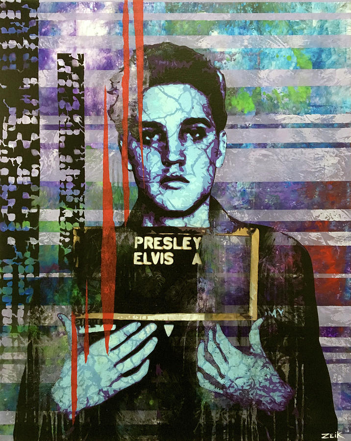 Elvis Painting - Jailhouse Rock Le by Bobby Zeik