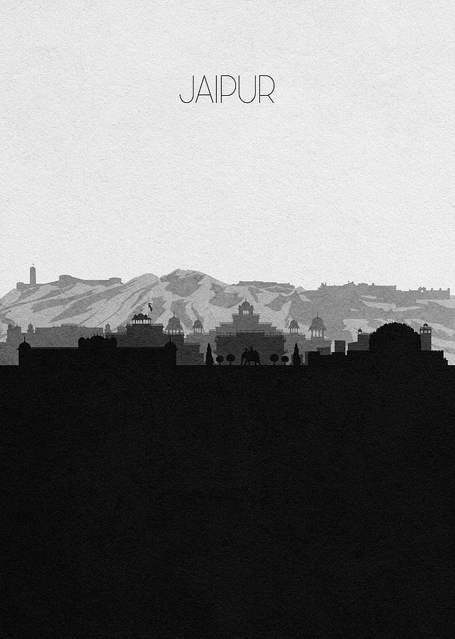 Jaipur Digital Art - Jaipur Cityscape Art by Inspirowl Design