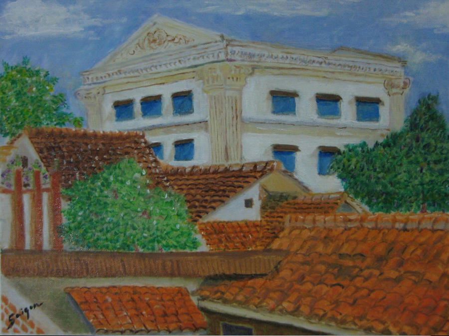 Saigon Painting - Jakarta Roofs by SAIGON De Manila