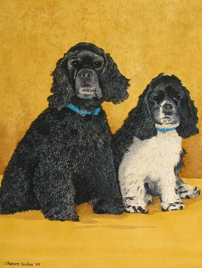 Cocker Spaniel Painting - Jake And Lucy by Sharon Farber