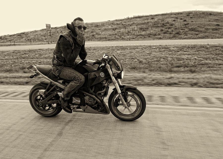 Motorcycle Rider Photograph - Jake by Sara Young