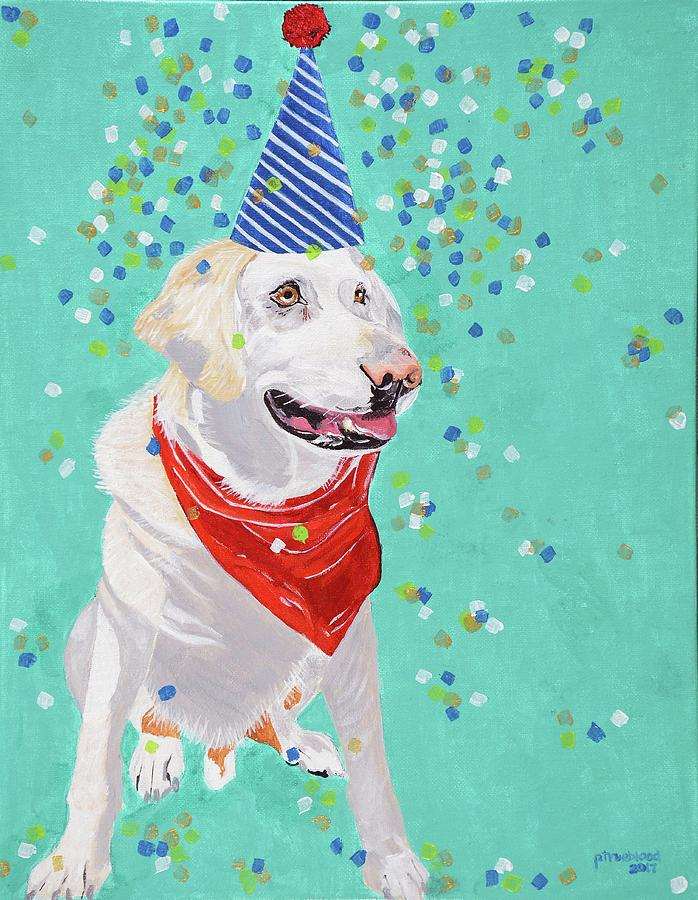 Party Animal Painting - Jake The Party Animal by Pamela Trueblood