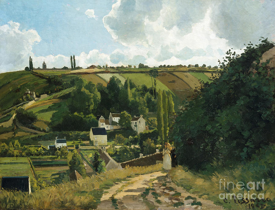 Landscape Painting - Jalais Hill At Pontoise by Camille Pissarro