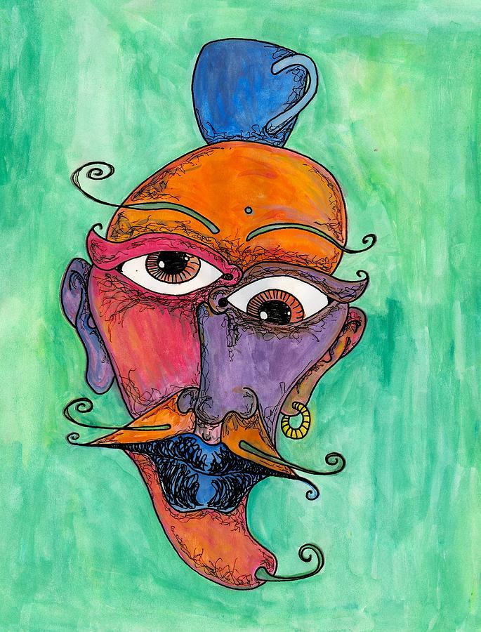Jalapeno Painting - Jalepeno Face by Jessica Kauffman