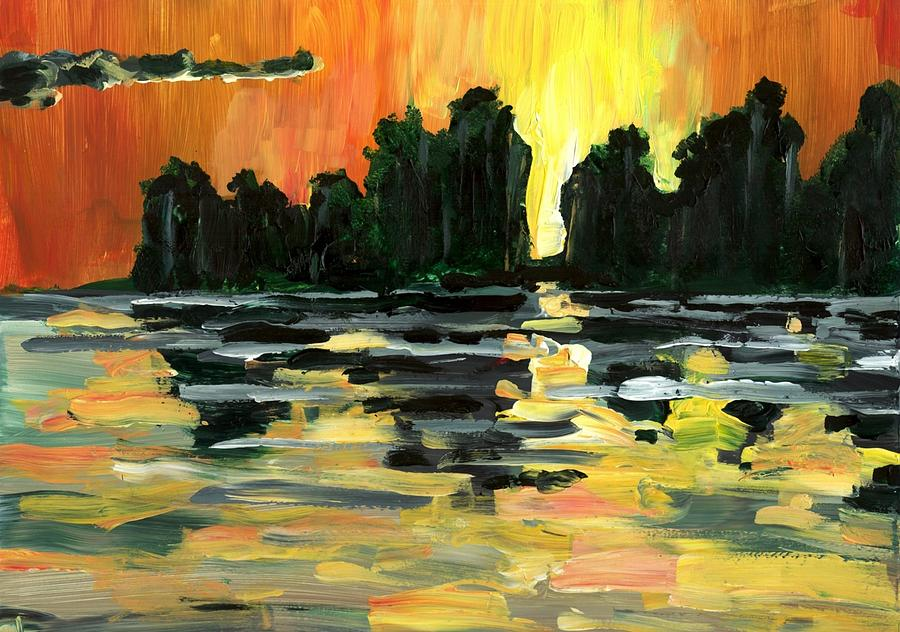 Jungle Painting - Jalisco Jungle River by Randy Sprout