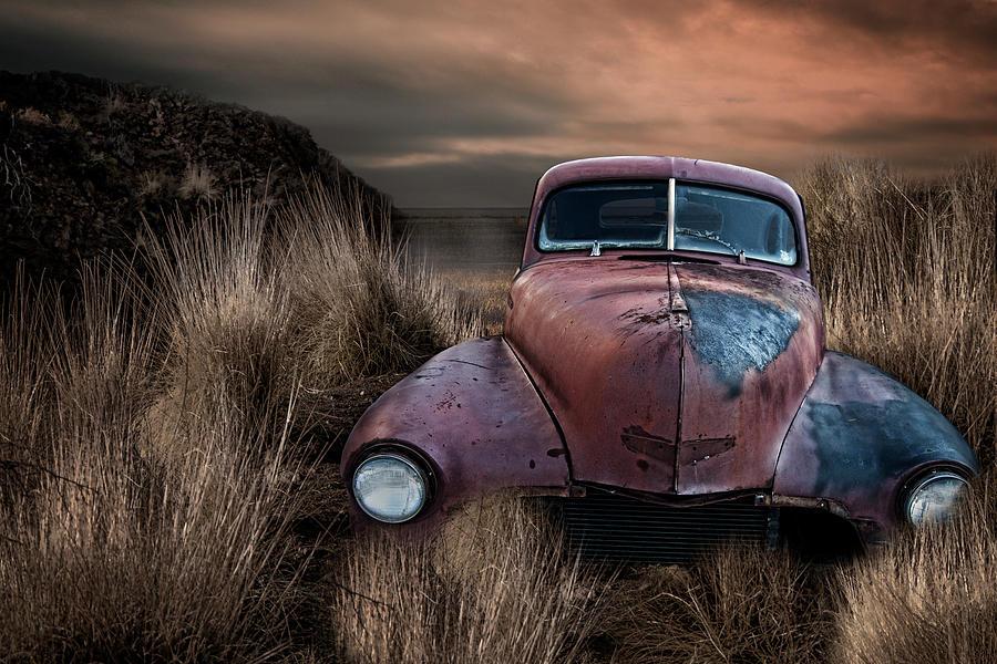 Jalopy Antique Car Photograph by Lori Hutchison