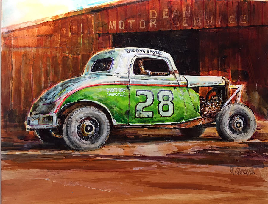 Jalopy Number 28 in Green by Ronald Shelley