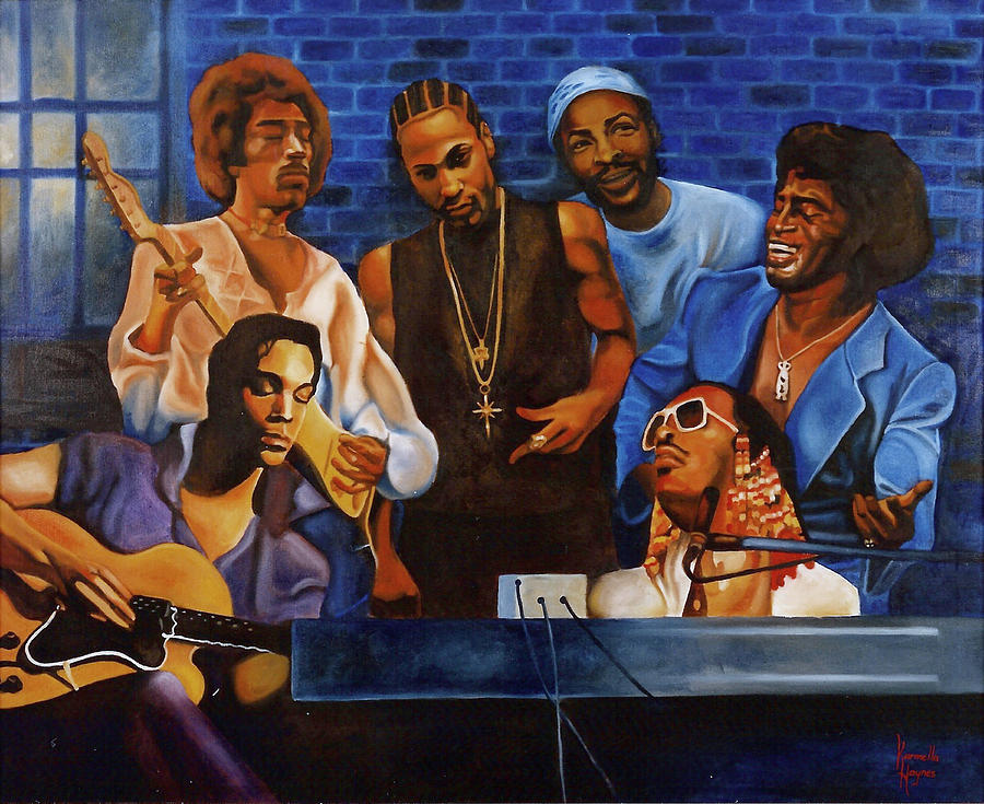 Music Painting - Jam Session by Karmella Haynes