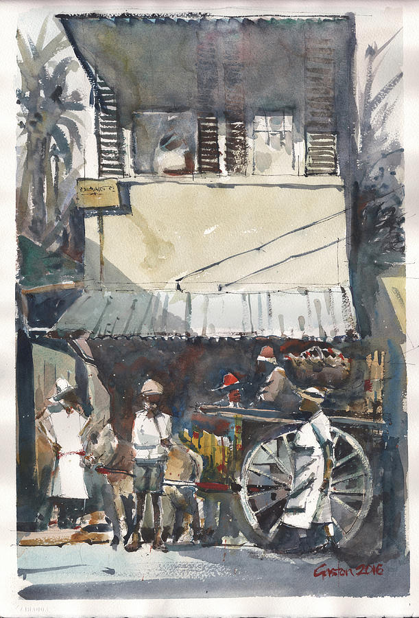 Jamaica Painting - Old Jamaica Country by Gaston McKenzie