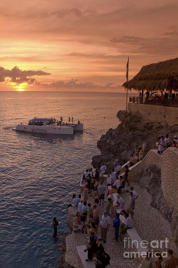 Bar Photograph - Jamaica Negril Ricks Cafe by Juergen Held