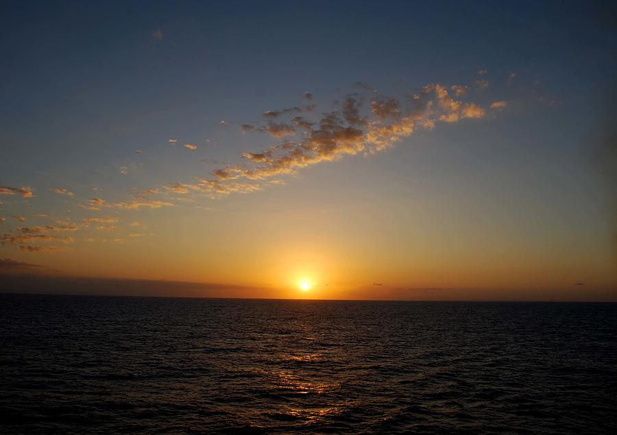 Sunset Photograph - Jamaican Sunset by Gary Wonning