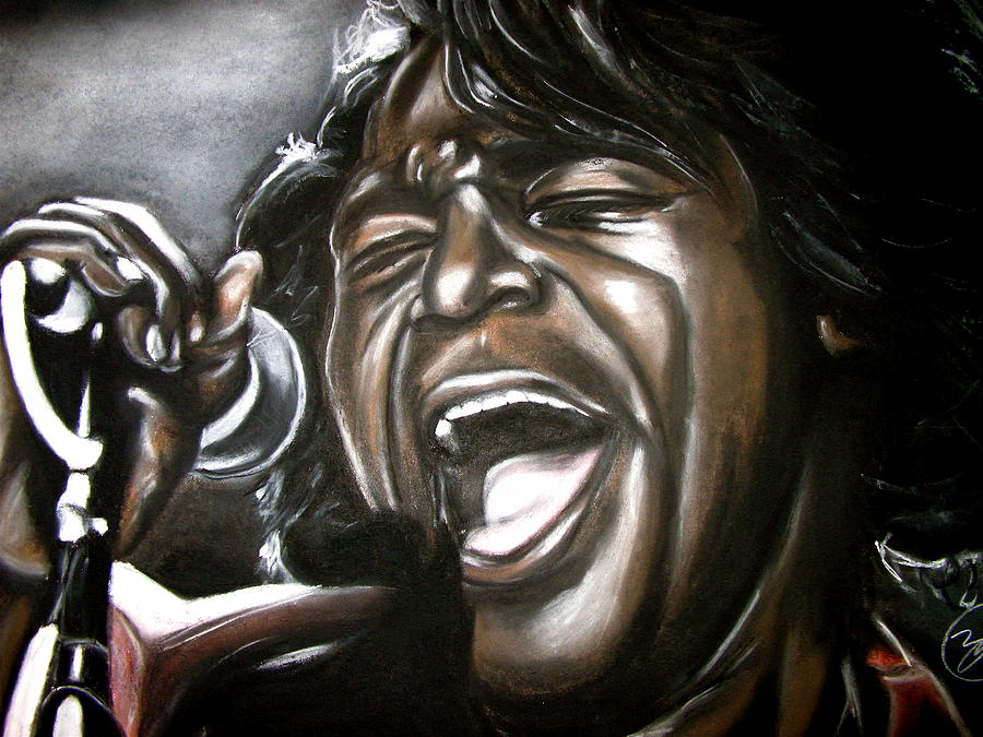 James Drawing - James Brown by Zach Zwagil
