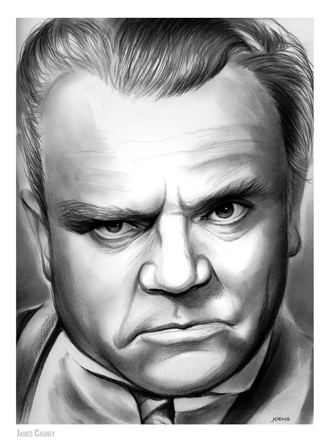 Cagney Drawing - James Cagney by Greg Joens
