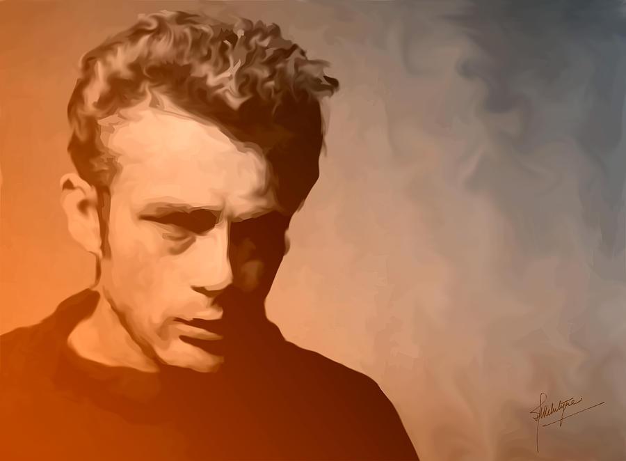 Actor Painting - James Dean by Debbie McIntyre