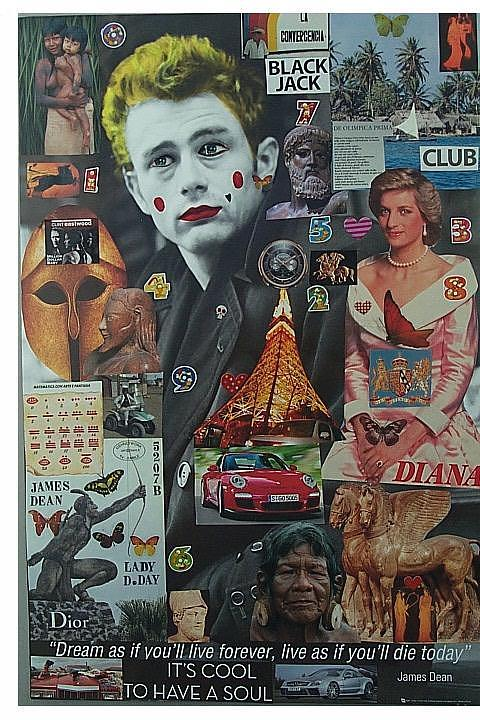 James Dean Lady D. Day Mixed Media by Francesco Martin