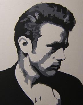 James Dean Painting - James Dean Profile by Michael James  Toomy