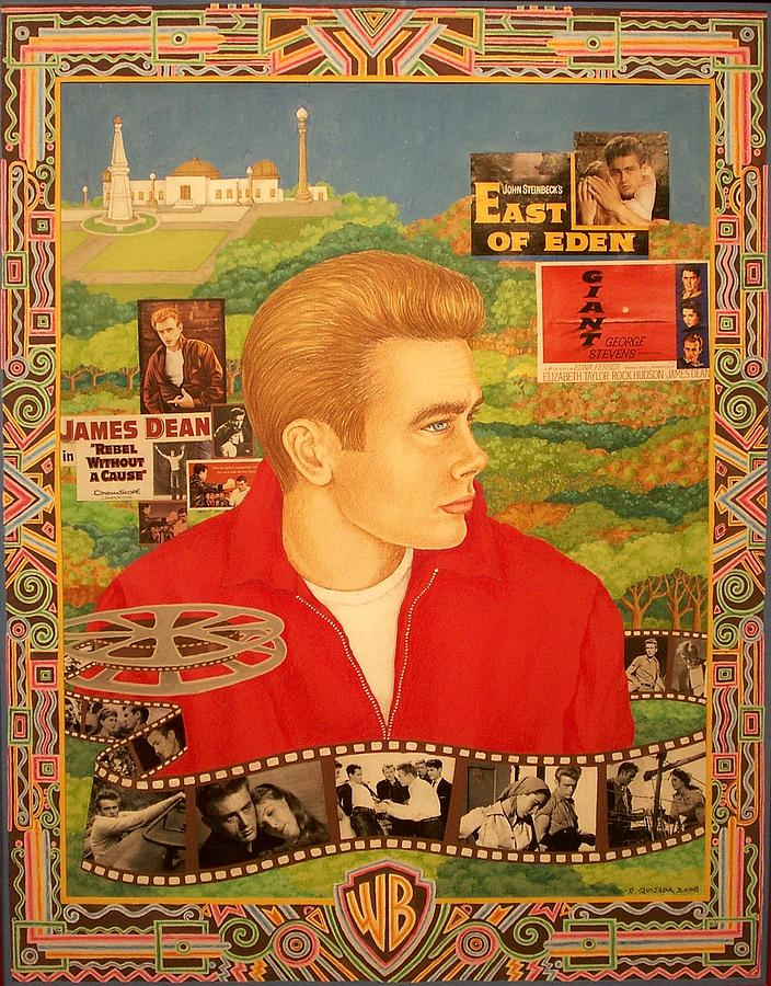 Icons Painting - James Dean by Robert Quijada