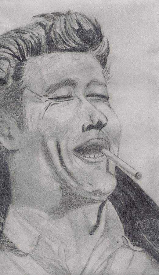 James Dean Drawing - James Dean by Shawn Sanderson
