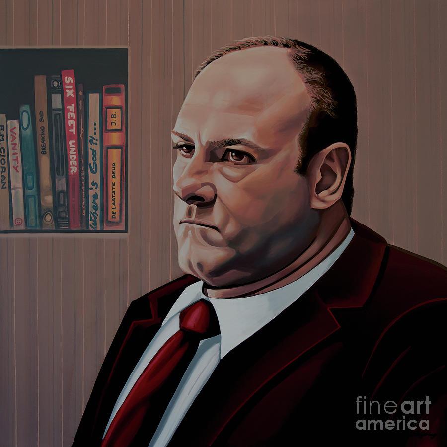 The Sopranos Painting - James Gandolfini Painting by Paul Meijering