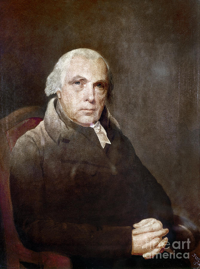 1817 Photograph - James Madison (1751-1836) by Granger