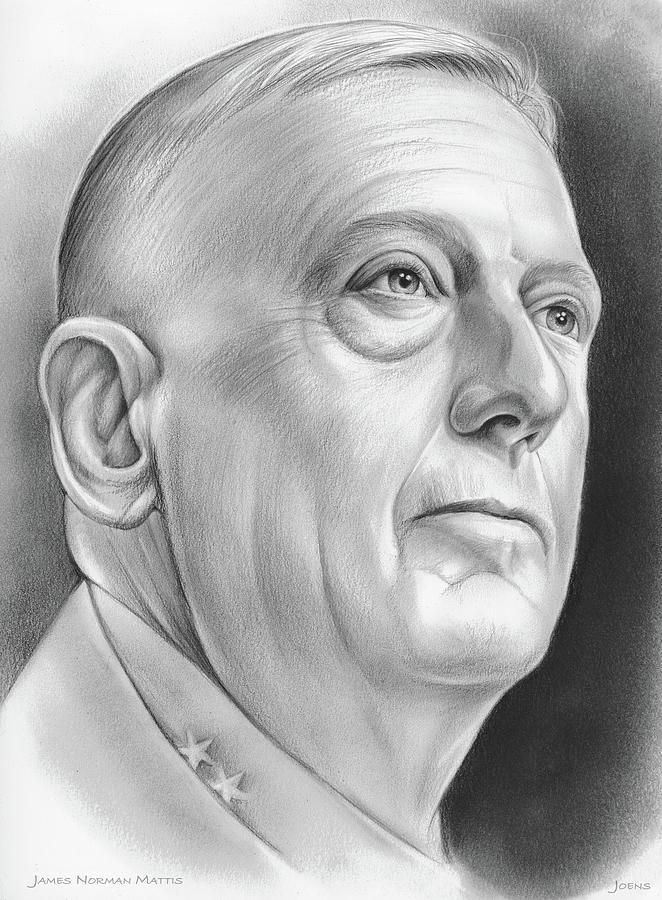 James Norman Mattis Drawing