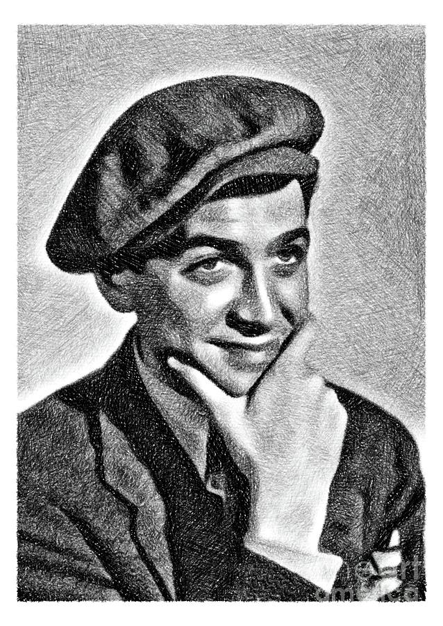 James Stewart, Vintage Actor By Js Drawing