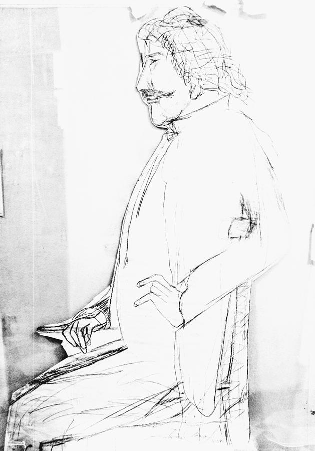 Whistler Drawing - James Whistlers Portrait by Edward Longo