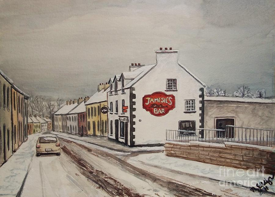 Jamesies Bar Ballintra Co.Donegal Painting by Nora Gallagher