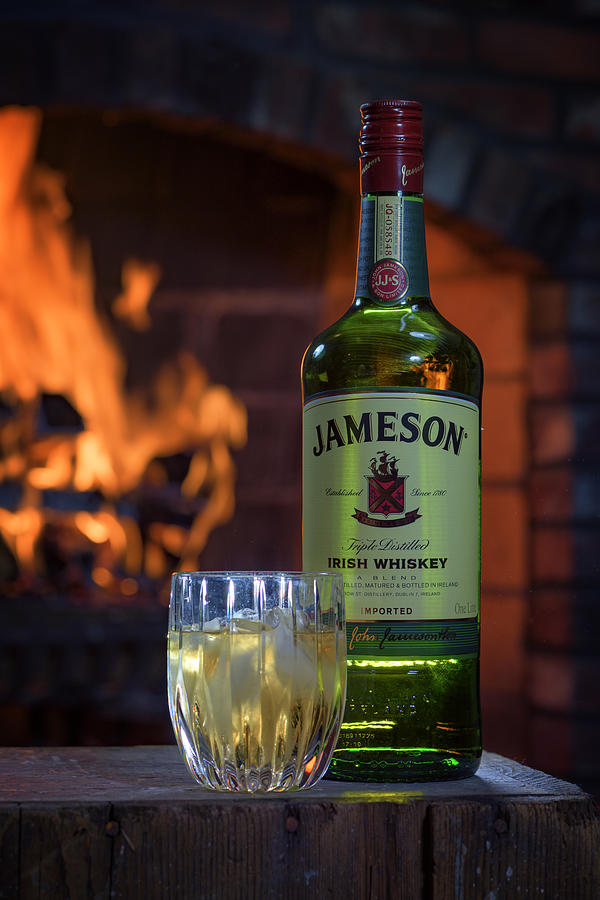 Whiskey Photograph - Jameson By The Fire by Rick Berk