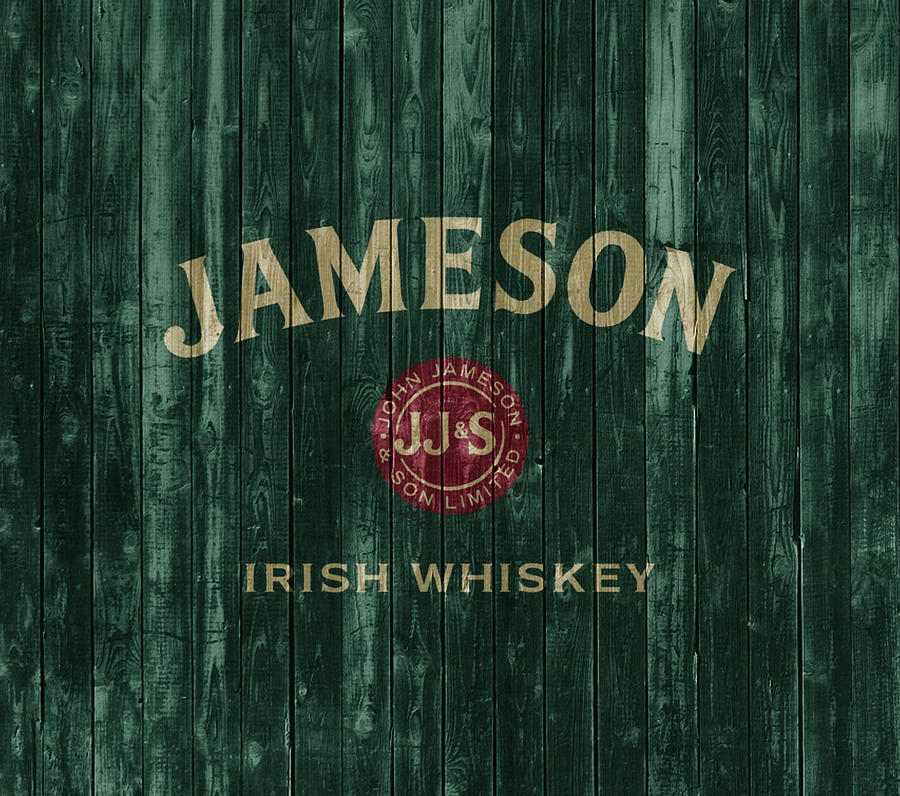 Jameson Irish Whiskey Mixed Media - Jameson Irish Whiskey Barn Door by Dan Sproul
