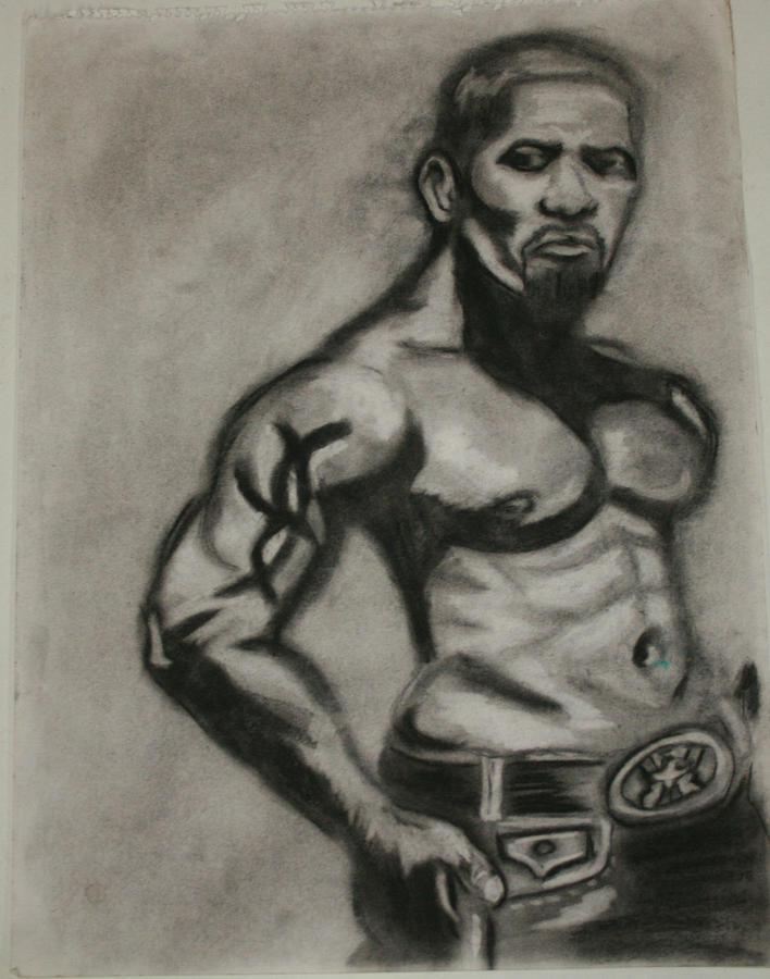 Muscular Body Drawing - Jamie Foxx by Jasmine Harris