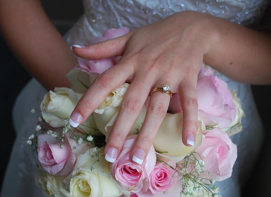 Wedding Photograph - Jamies Hand by Lori McCullough