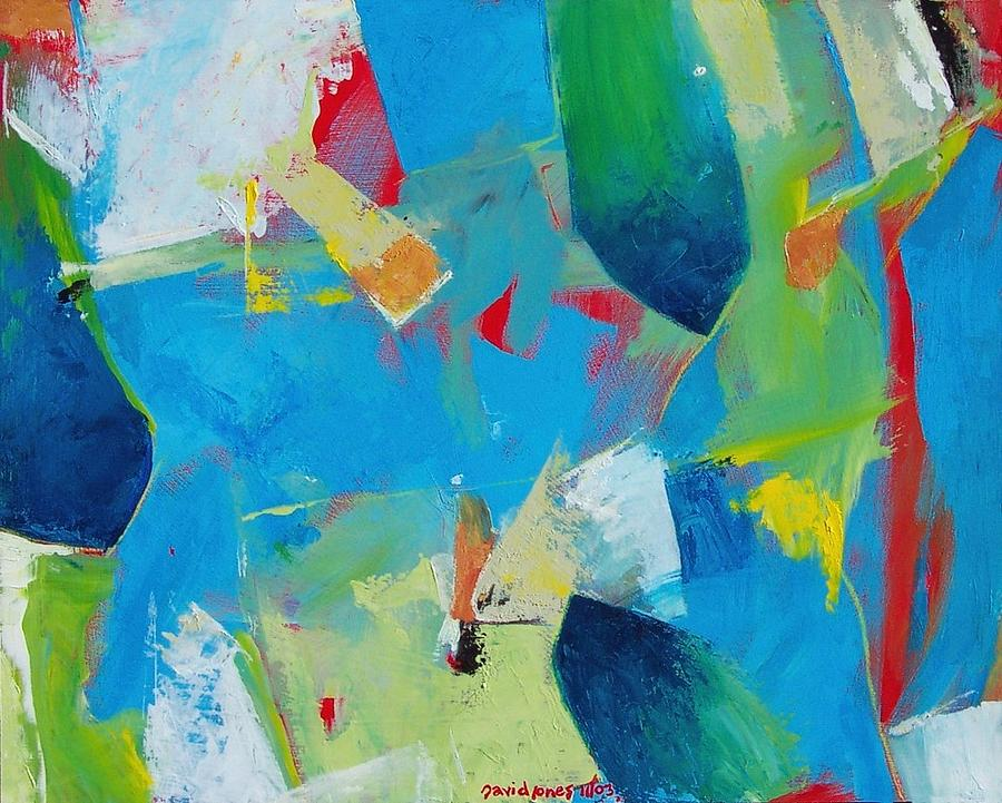 Abstract Painting - Jamies Kitchen by Dave Jones