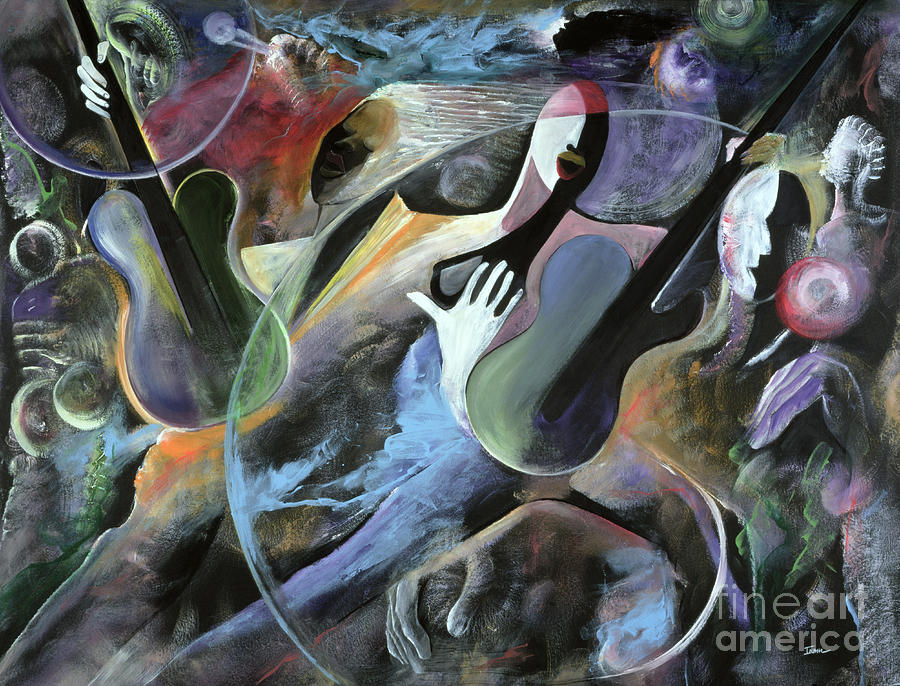Jazz Painting - Jammin by Ikahl Beckford
